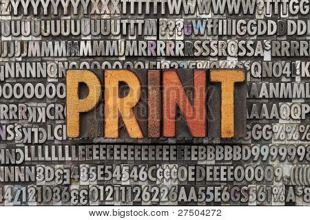 Imprimir a palavra tipografia tipo