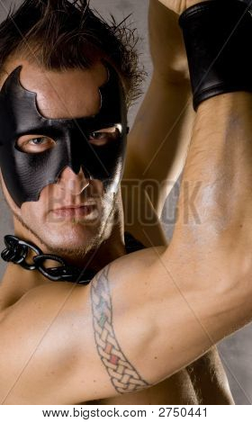 Gay Guy In Black Mask