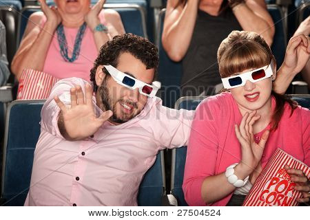 Couple With 3D Glasses