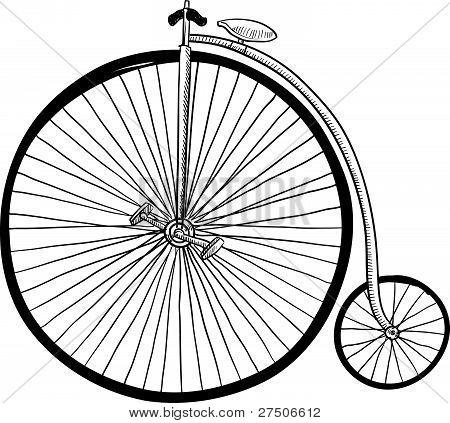 alt altmodisch Fahrrad Skizze