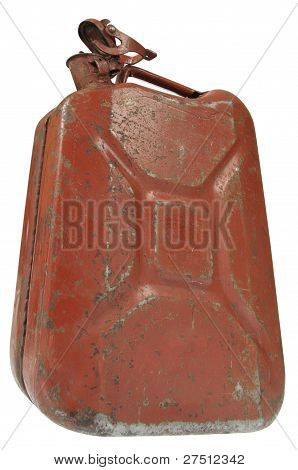 Open Rusty Gas Can