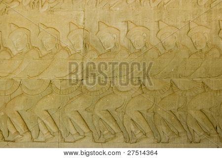 Devas hindú tirando Vasuki, Angkor Wat