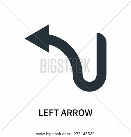 poster of Left Arrow Icon Isolated On White Background. Left Arrow Icon Simple Sign. Left Arrow Icon Trendy An