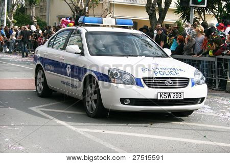 Police Car In Carnival