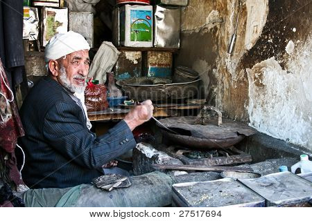 Cook In The Center Of Sanaa (yemen).
