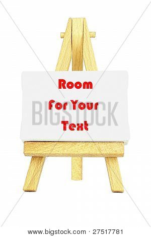 Easel with a blank canva