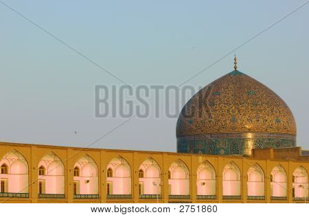 Dome Of Sheikh Lotf Allah Mosque, Isfahan, Iran