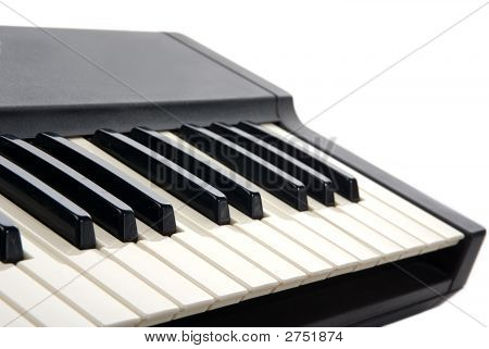 Piano Keyboard Close-Up
