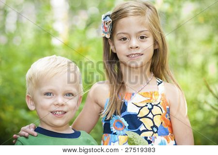 Beautiful Little Children outdoor portrait
