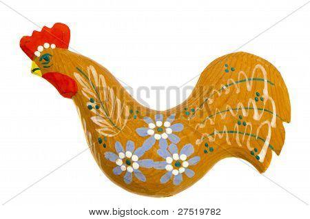 Graven Handmade Wooden Easter Rooster Decoration.