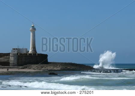 Lighthouse On The Atlantic Coast