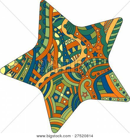 vector star with different pattern