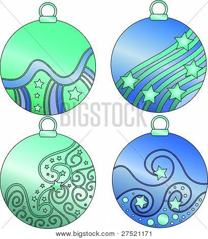 Baubles collection blue and turquoise