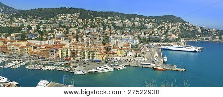 Sea Port Of City Of Nice, France