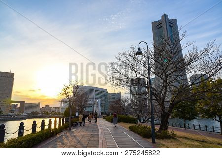Landscape Of Yokohama City In