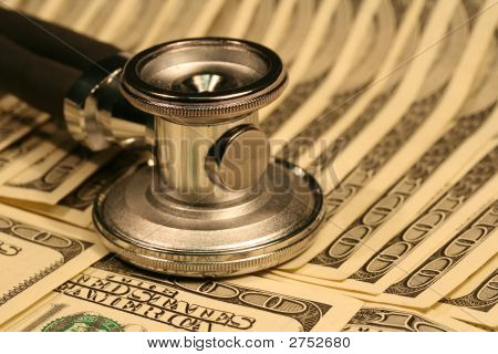 Stethoscope And Money