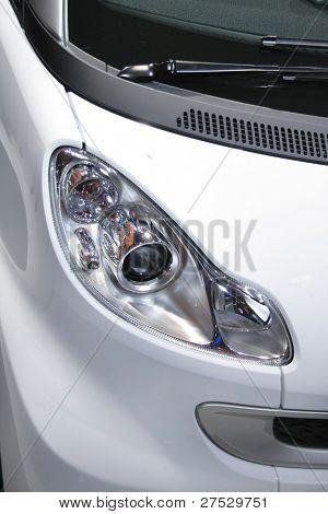 Lâmpada de cabeça do carro smart branco