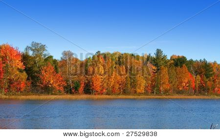 Autumn scene in Michigan's upper peninsula