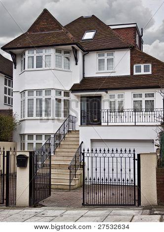 Tudor style house.