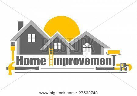 Ilustración de vector de icono de mejoras para el hogar