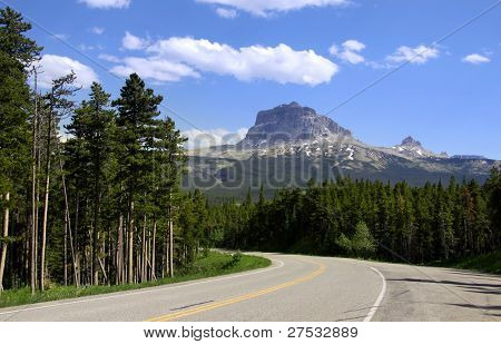 Road to Chief mountain in Glacier national park Montana