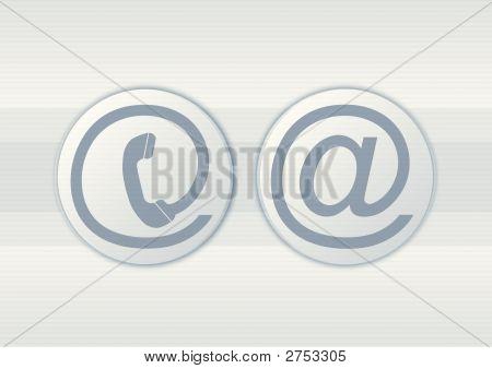 Entre em contato com ícones