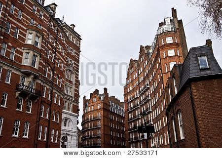 Georgian style buildings  in London.