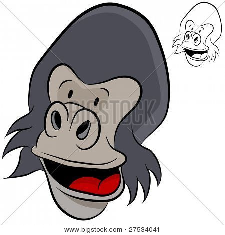 An image of an ape face.