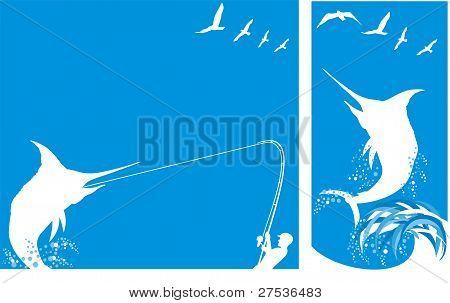 deep sea fishing - background