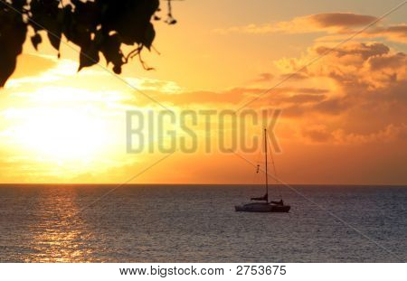 Hawaiian Sunset Boat