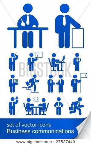 Legen Sie informative Geschäft Symbol Vektor-Illustration isoliert auf weißem Hintergrund