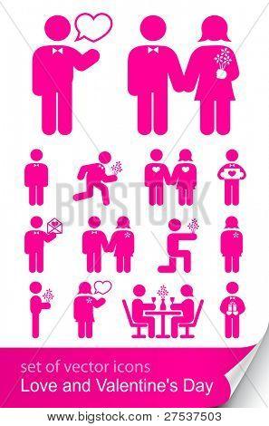 definir o ícone para o dia dos Namorados vector illustration isolado no fundo branco