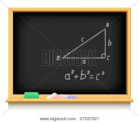 school blackboard vector illustration isolated on white background
