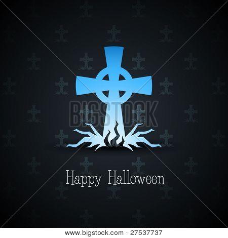 grave cross on background vector illustration