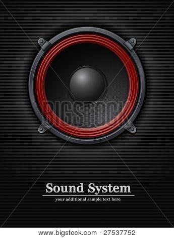 sound loud speaker vector illustration