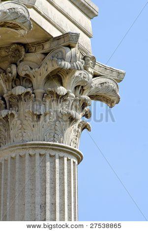 detail view of an antic roman column at Xanten