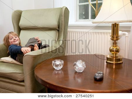 Child Relaxing Home