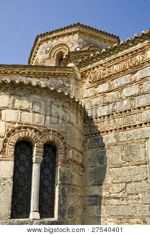 detail of the byzantine church Agii Iasonos ke Sossipatros, Corfu Town, greece