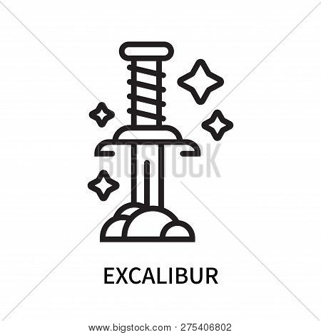 Excalibur Icon Isolated On White