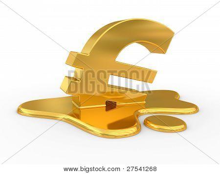 Melting Euro Sign.