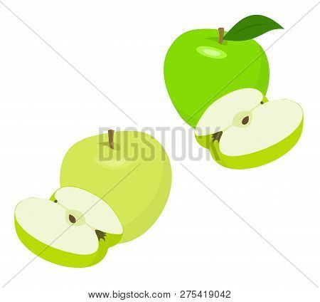 Ripe Green Apple Fruit With