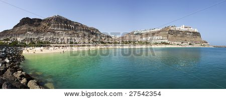 Panoramic view of Playa Amadores, Gran Canaria