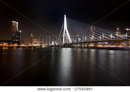 The Erasmus Bridge at Rotterdam, night shot