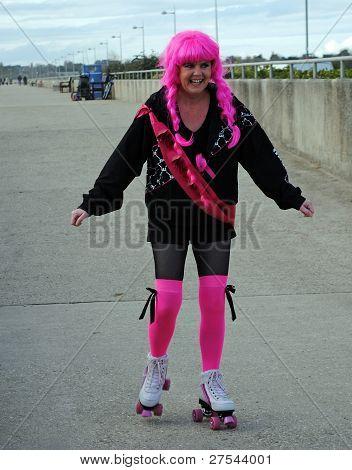 Pink Roller Skater