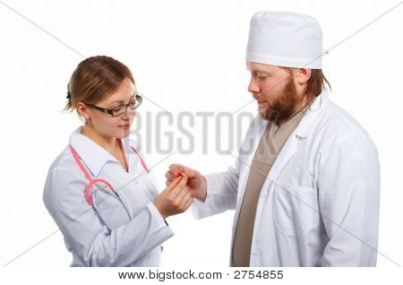 Doctor'S Teamwork. Consultation. Isolated.