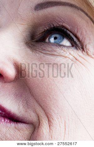 Close-up of a mature woman face