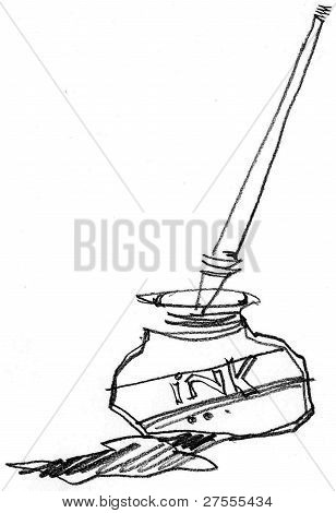 Drawing Ink Bottle.