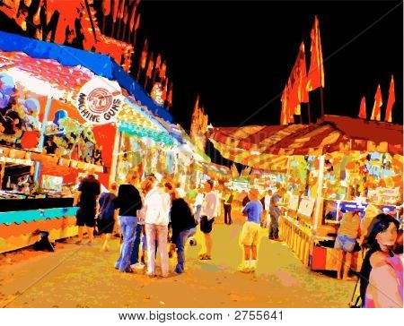 Carnival Midwayat Night_Vector