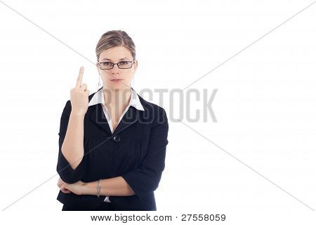 Angry Woman Gesture