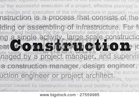 Construction Conception Text